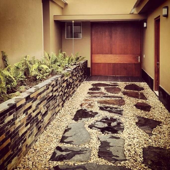 La entrada a la casa.