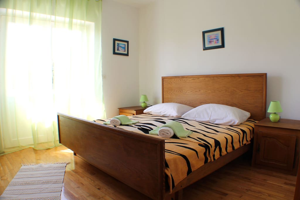 Amazing spacious bedroom with double bed and plenty of storage space.