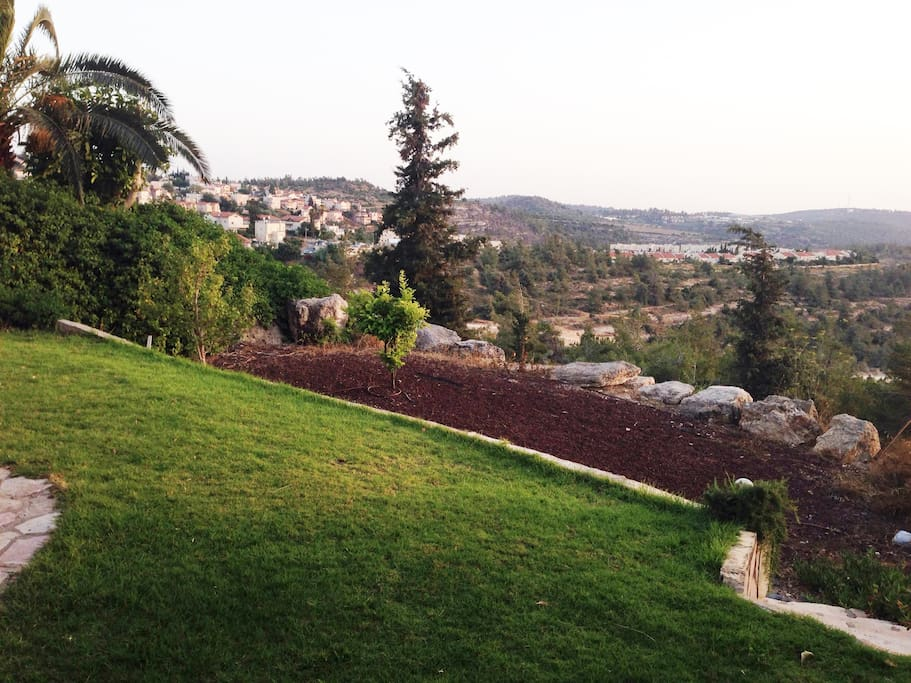 spectacular view of Jerusalem Hills