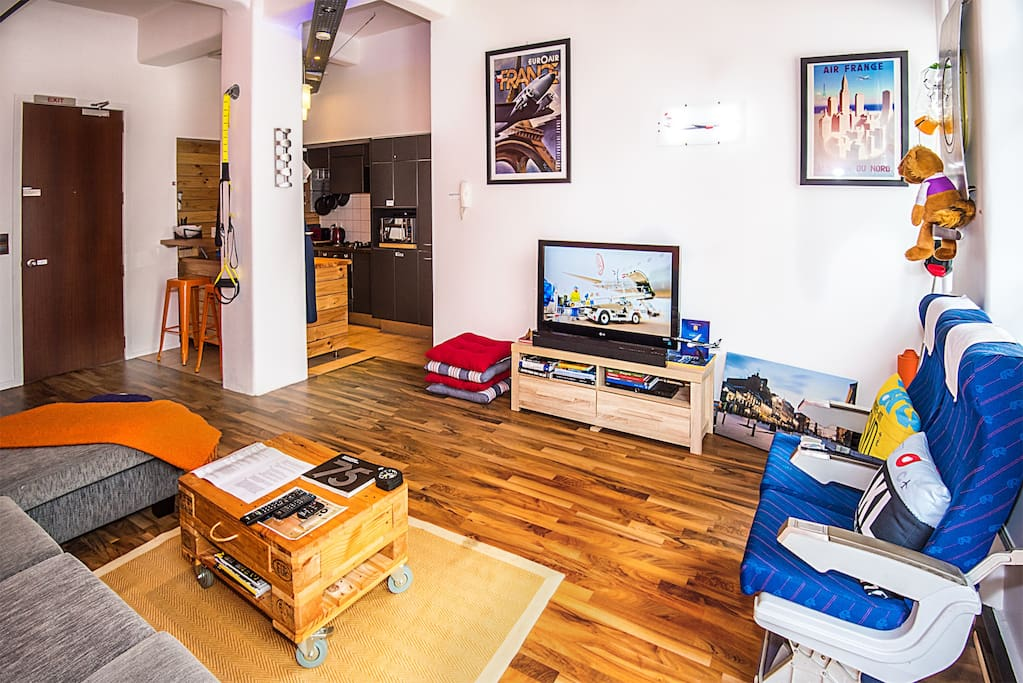 The living area in Loft 2G