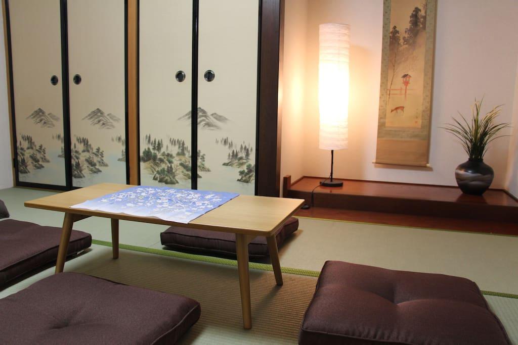 1st Floor Japanese Bedroom#2 as tea/sitting room, A/C.