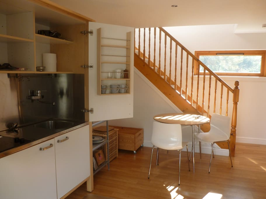 Downstairs kitchen and dinning area