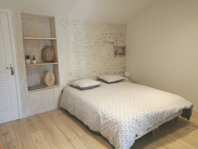 Chambre privative au bord du Marais Poitevin