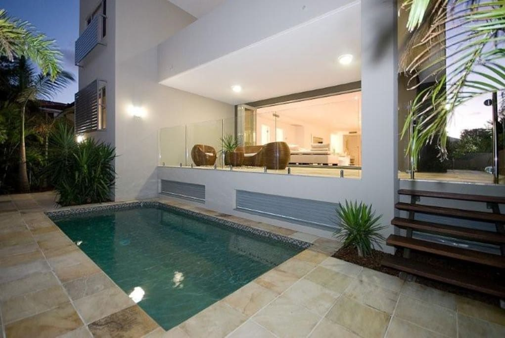 The plunge pool is exclusively yours