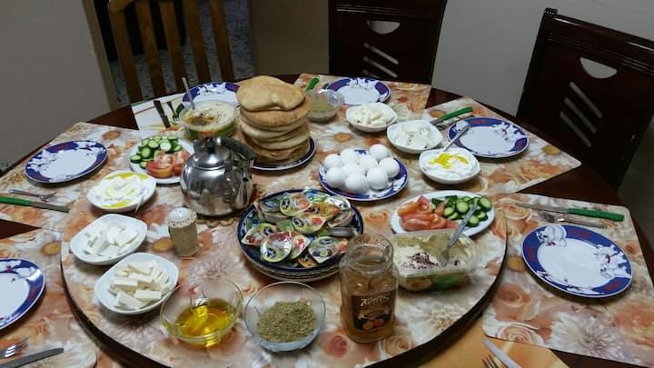Host family in Bethlehem