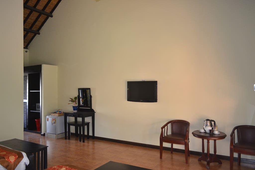 Room is featured with all necessities and amenities
