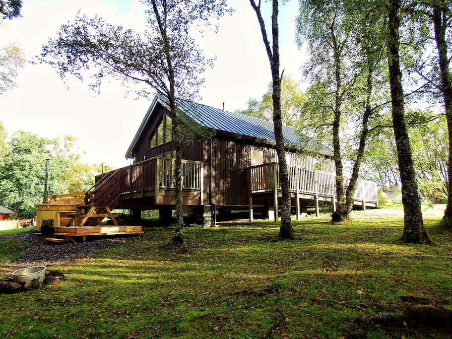 Lovely Log Cabin With Hot Tub Houses For Rent In