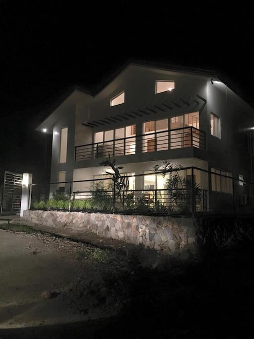 House at night...