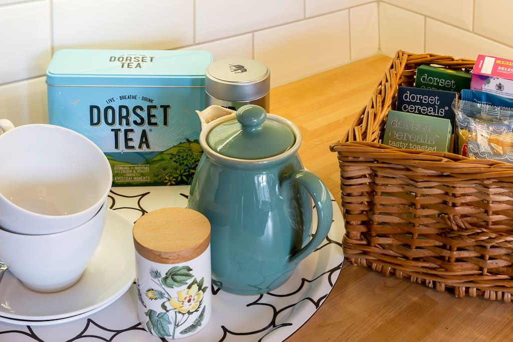 Dorset Tea and Dorset cereals await you for your breakfast, if the hens are laying you'll get some eggs too!