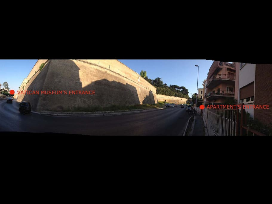 A 250 m. dall'ingresso dei musei - 250 meters from the entrance of the Vatican Museums