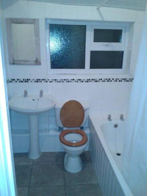 Bathroom with bath and nice hot shower