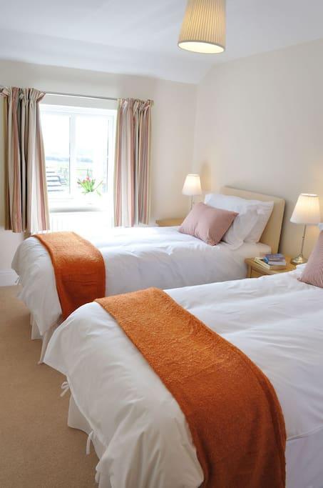 1 of 3 twin bedrooms