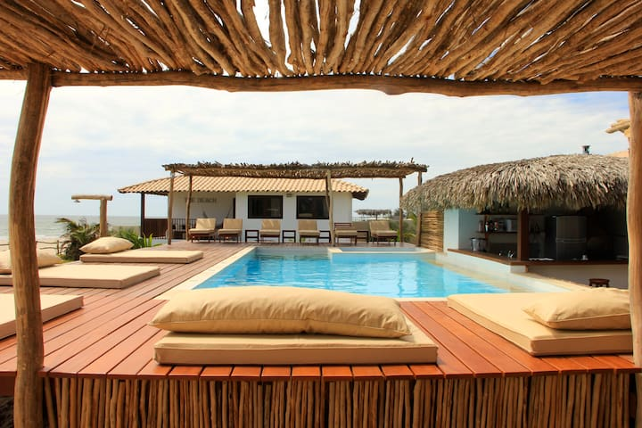 PREABEACH VILLAS:for Kiters&family! - Cruz - Casa