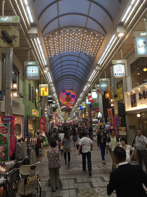 This is the shopping street Musashikoyama