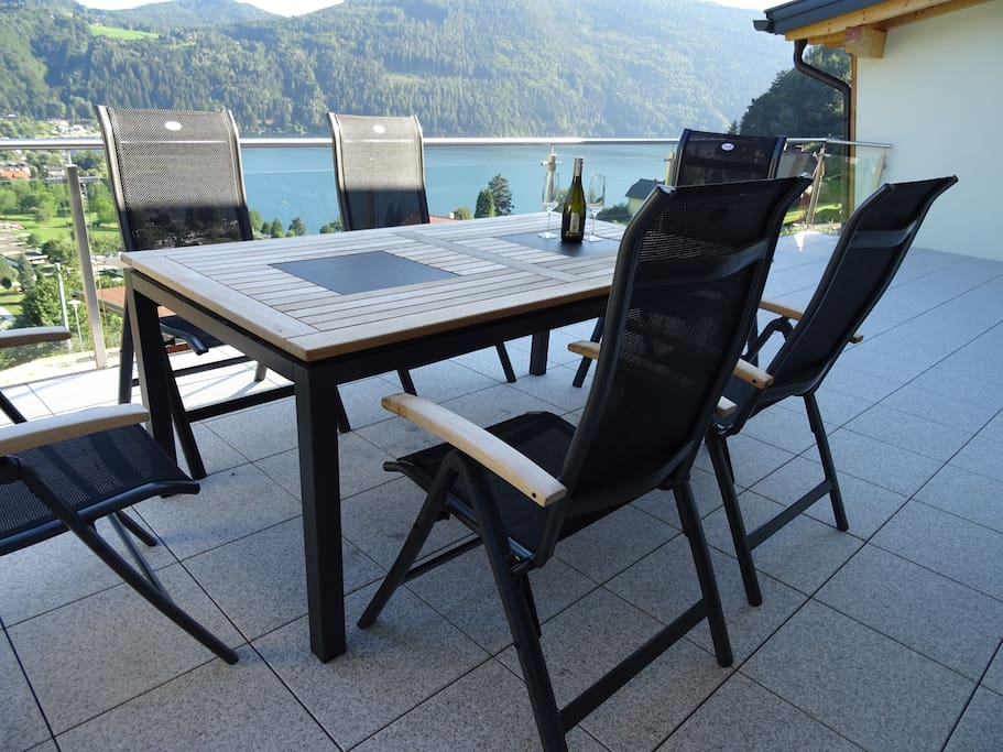 The large balcony is great for alfresco entertaining or relaxing in the sun  ...