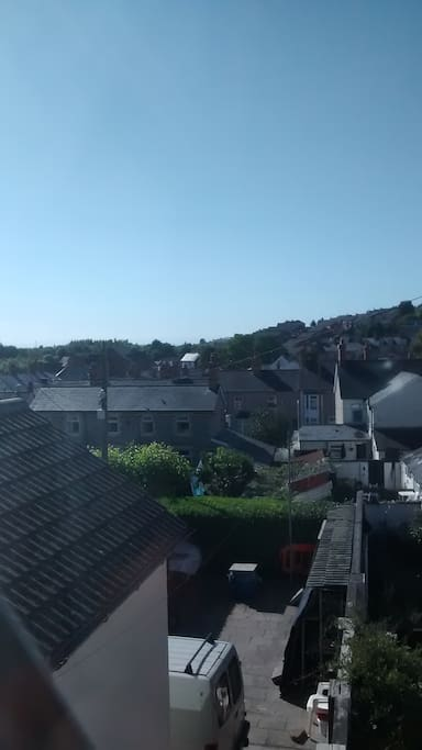 View from 1st floor window.