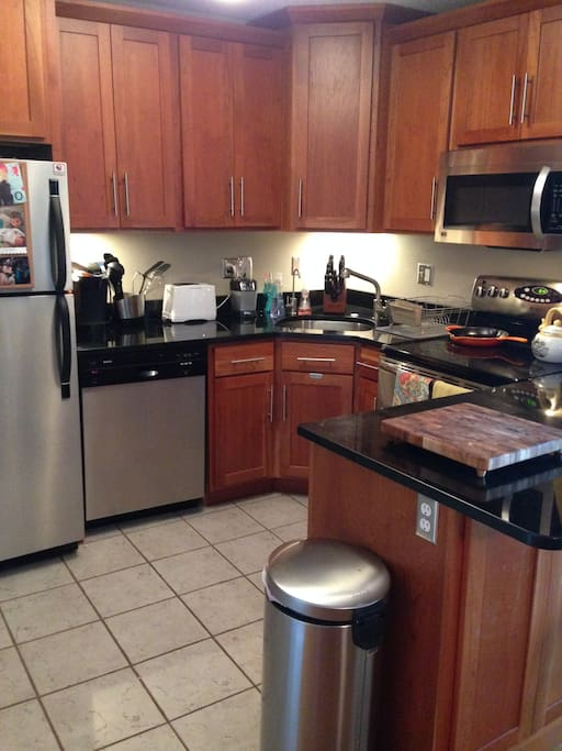 Recently renovated kitchen with new appliances