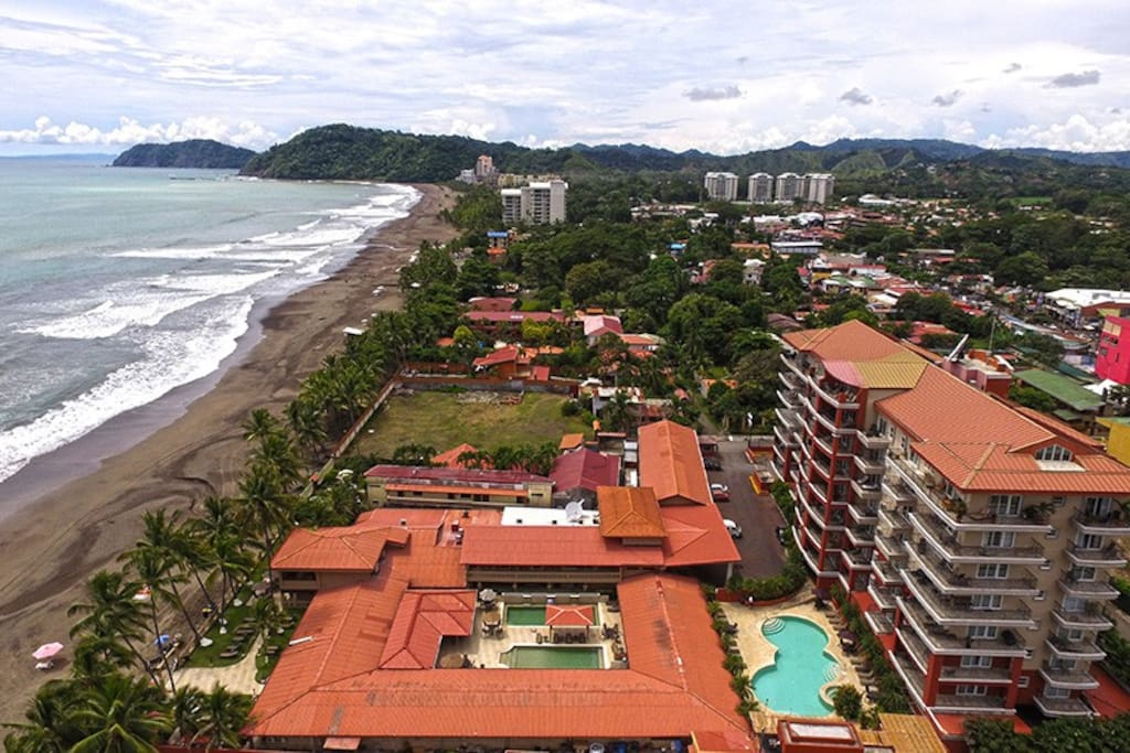 Vista Mar Building is located two steps from the beach in the center of Jaco.