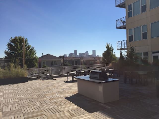 Roof-deck with beautiful views of downtown denver