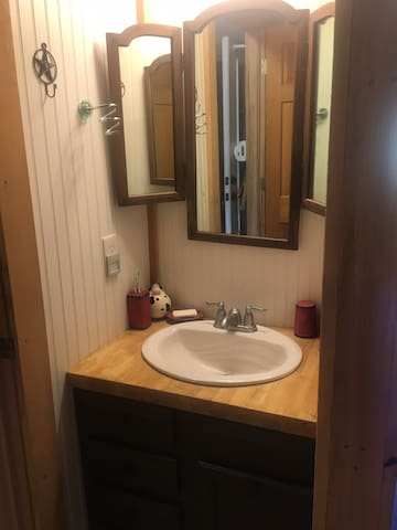 Bathroom vanity and sink