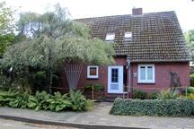 Straßenansicht des Hauses mit Vorgarten