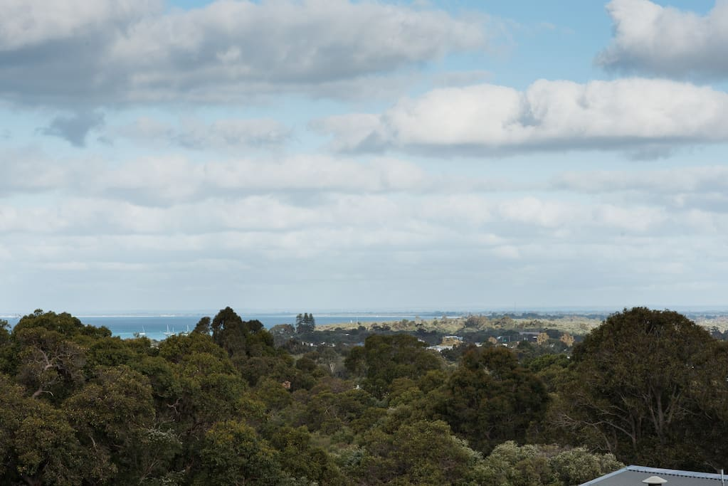 Great view across Geographe Bay to Busselton and beyond