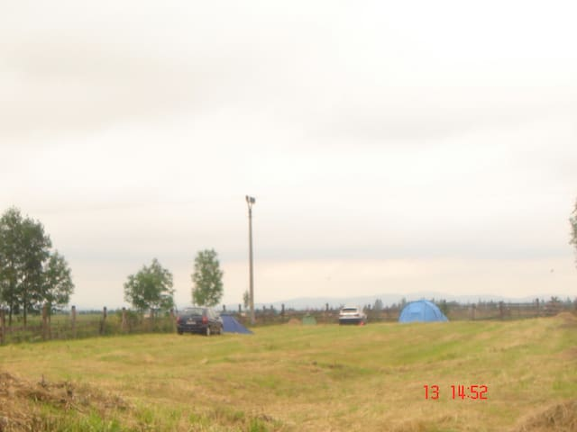 large yard for your caravan or tent trip Orava