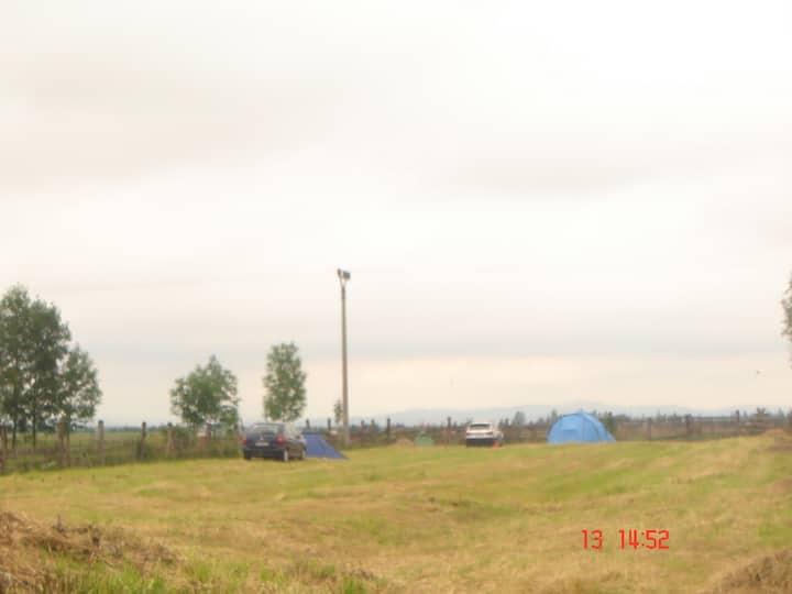 large yard for your caravan or tent trip Orava