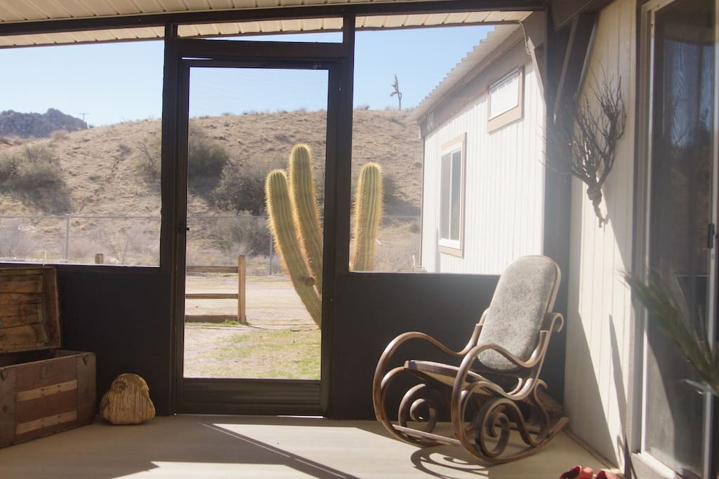 Front porch, ideal for watching the sunrise or moonrise.