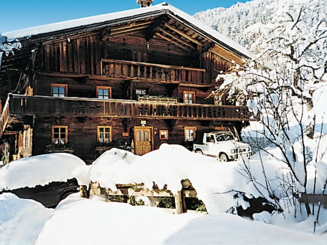 Holiday apartment in a beautiful wooden rustic chalet with relaxing nature surrounding