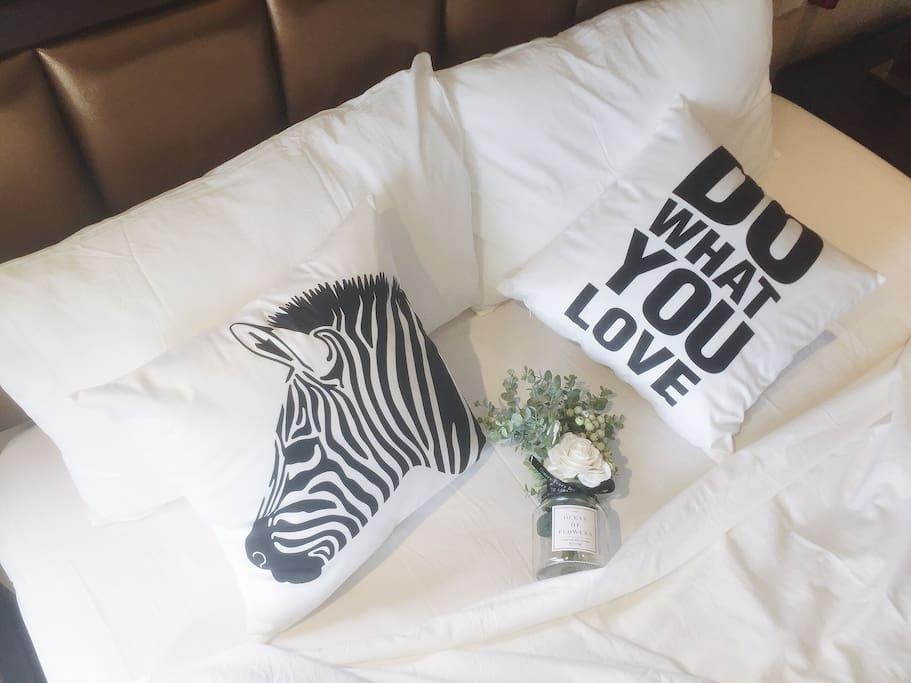 新购买的白色纯棉床品不伤害皮肤