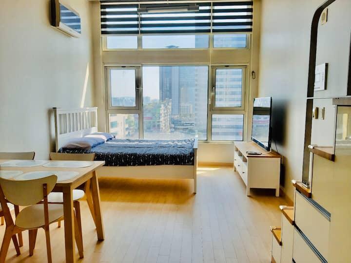 Minimalist loft style apartment