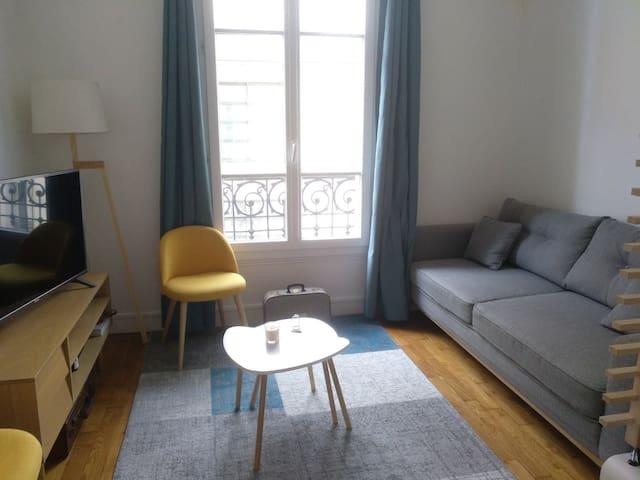 Agréable studio dans quartier calme de Paris.