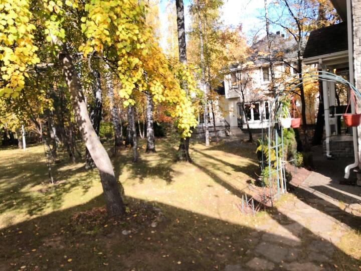 Два дома с тремя отдельными входами.