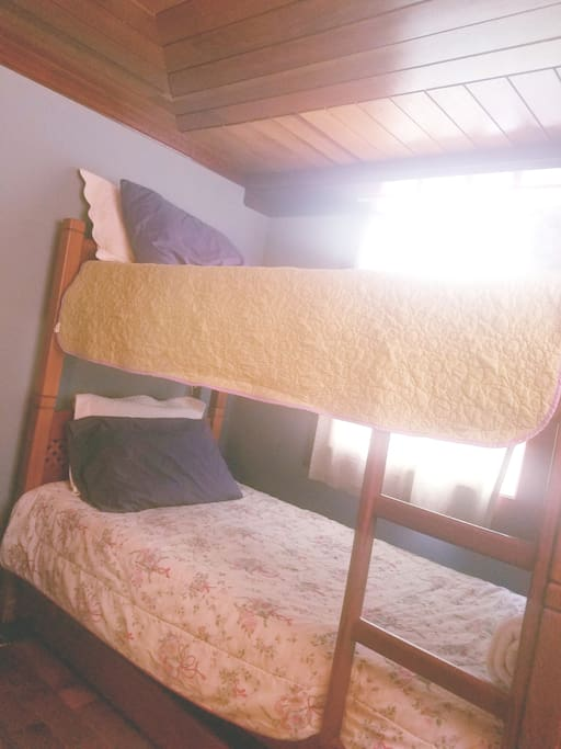 It's  $50 extra if you want to put a third person in the room...there's a third bed on the bunk bed