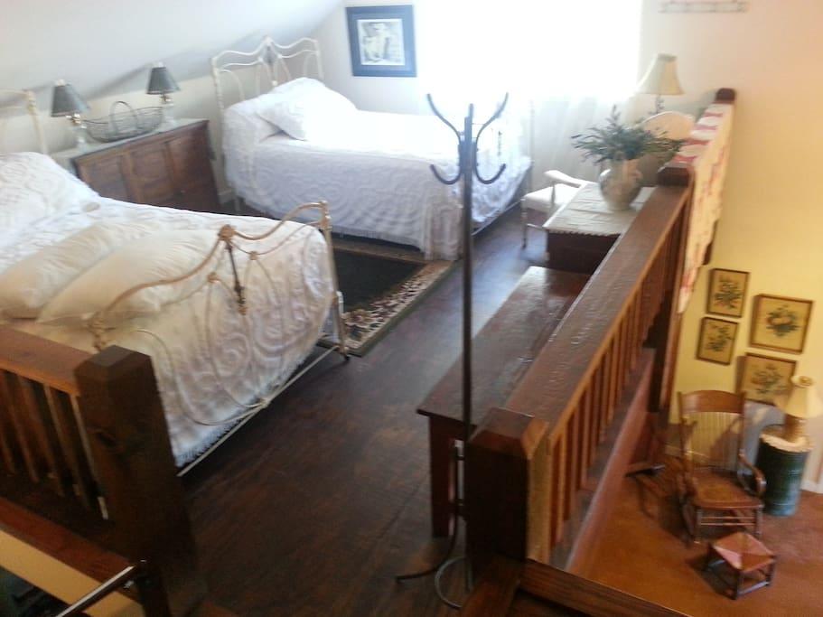 Guest house loft bedroom