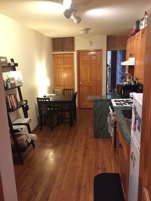 Kitchen and common space area