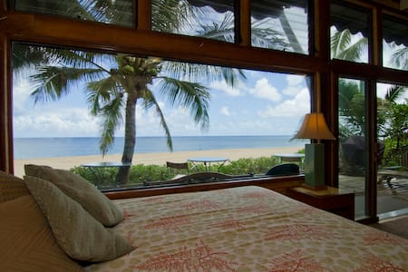 beachfront PIPELINE solar home - Haleiwa