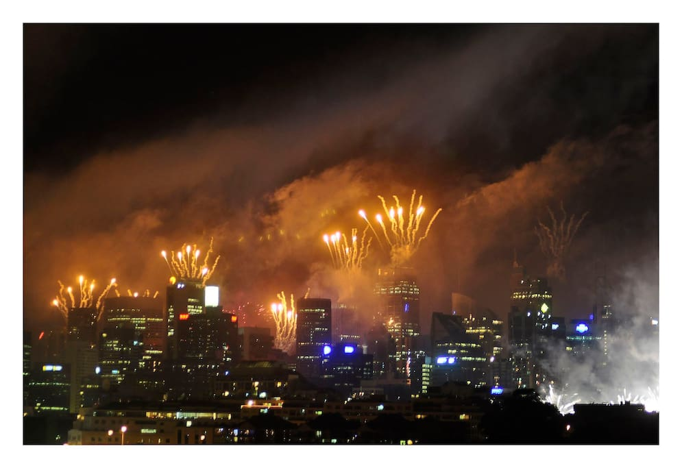 Actual view of the New Years eve fireworks.