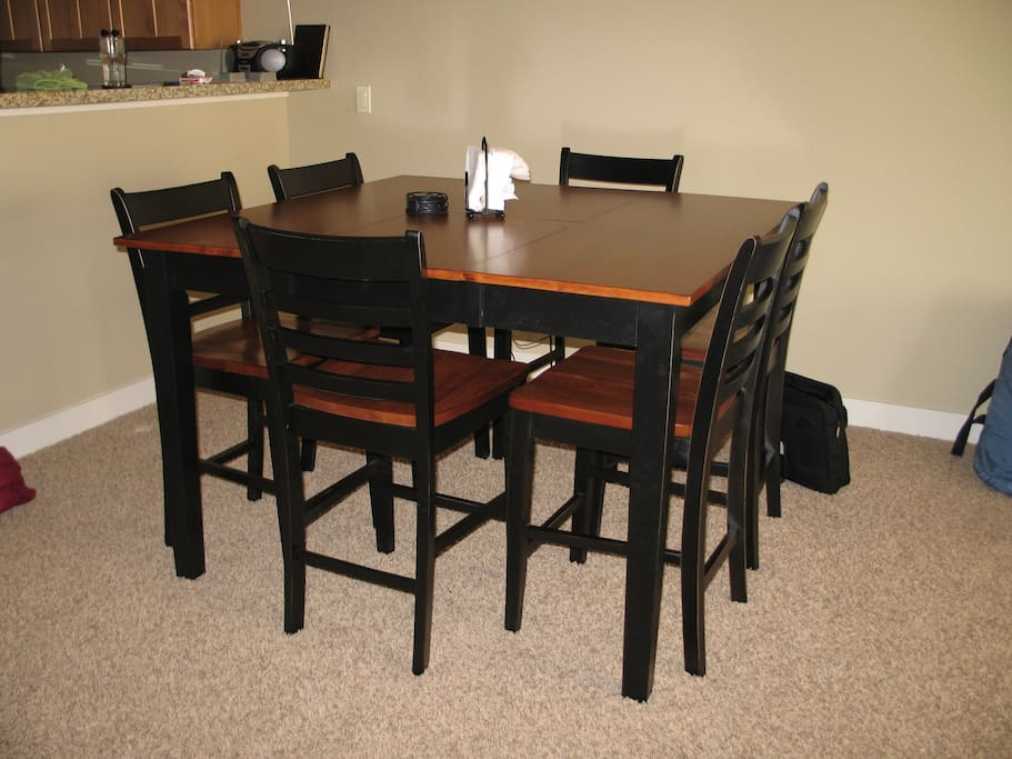 Dinning room with seating for 8.