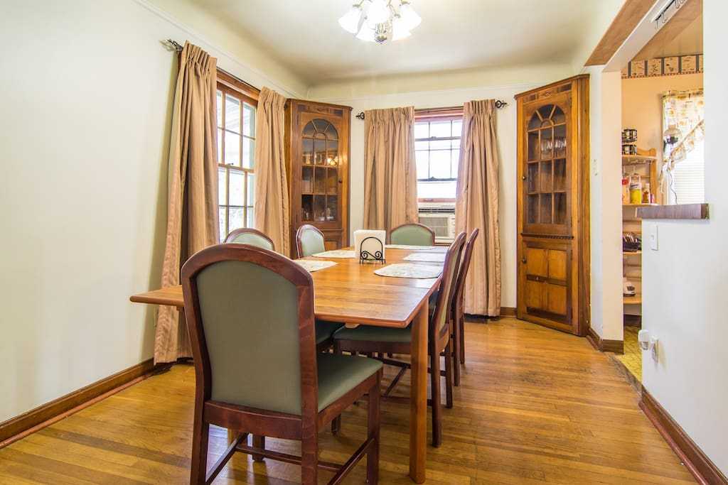 Dining room w/lovely china cabinets
