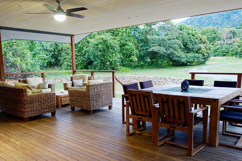 Generous deck for relaxing & entertaining