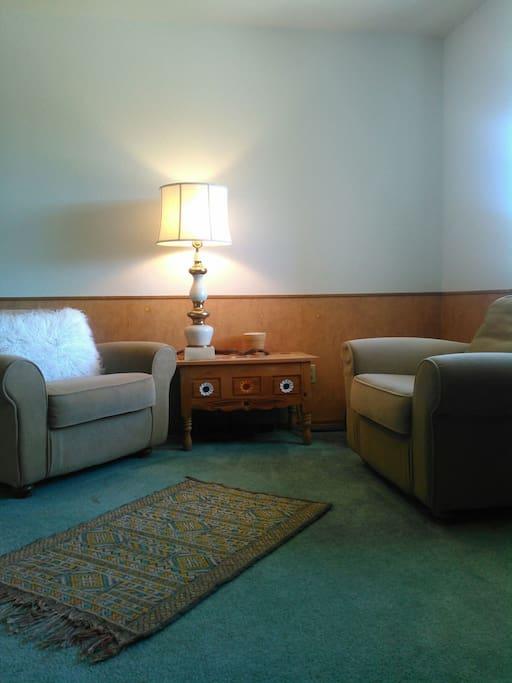 Sitting room near the front door.