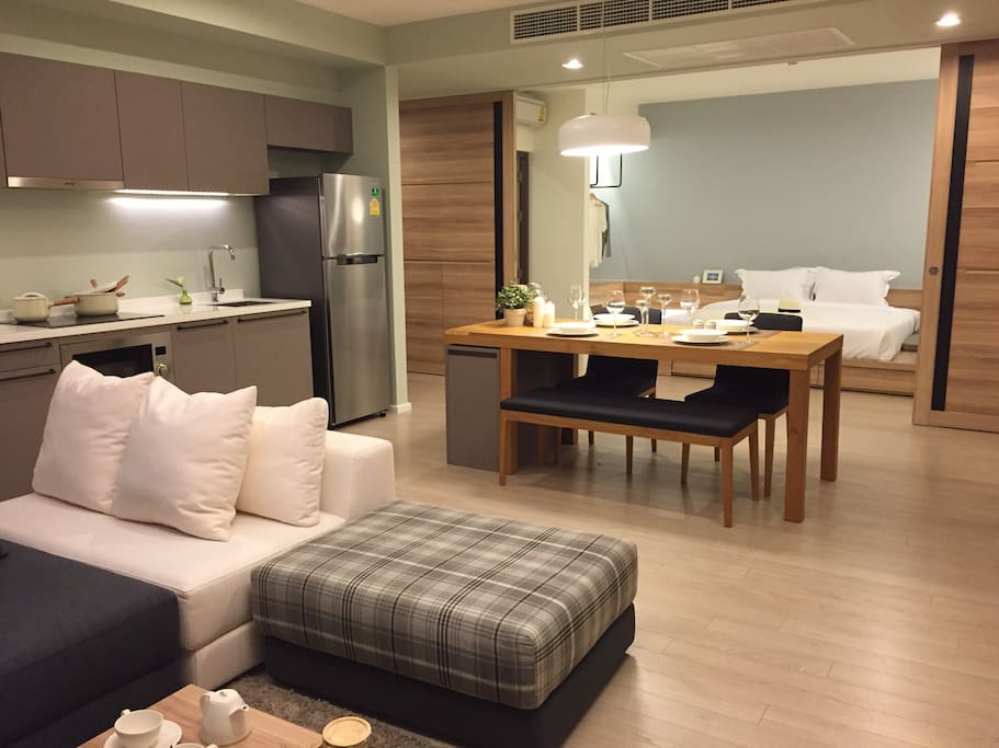 Dinning area and living area