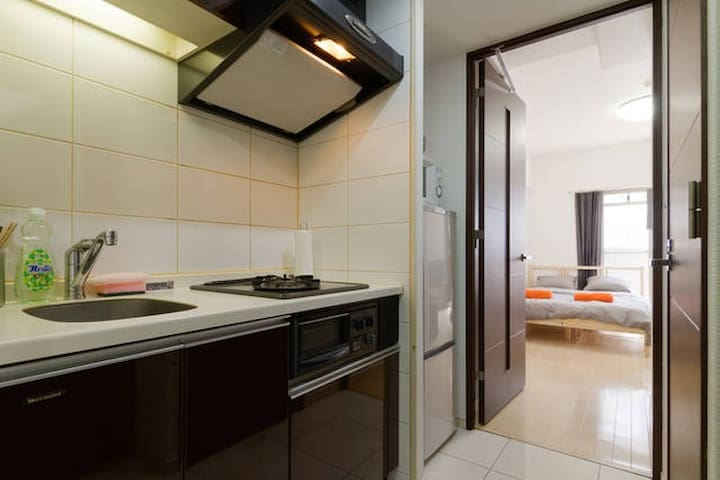 Modern, cozy flat in Umeda! - Ōsaka-shi - Leilighet