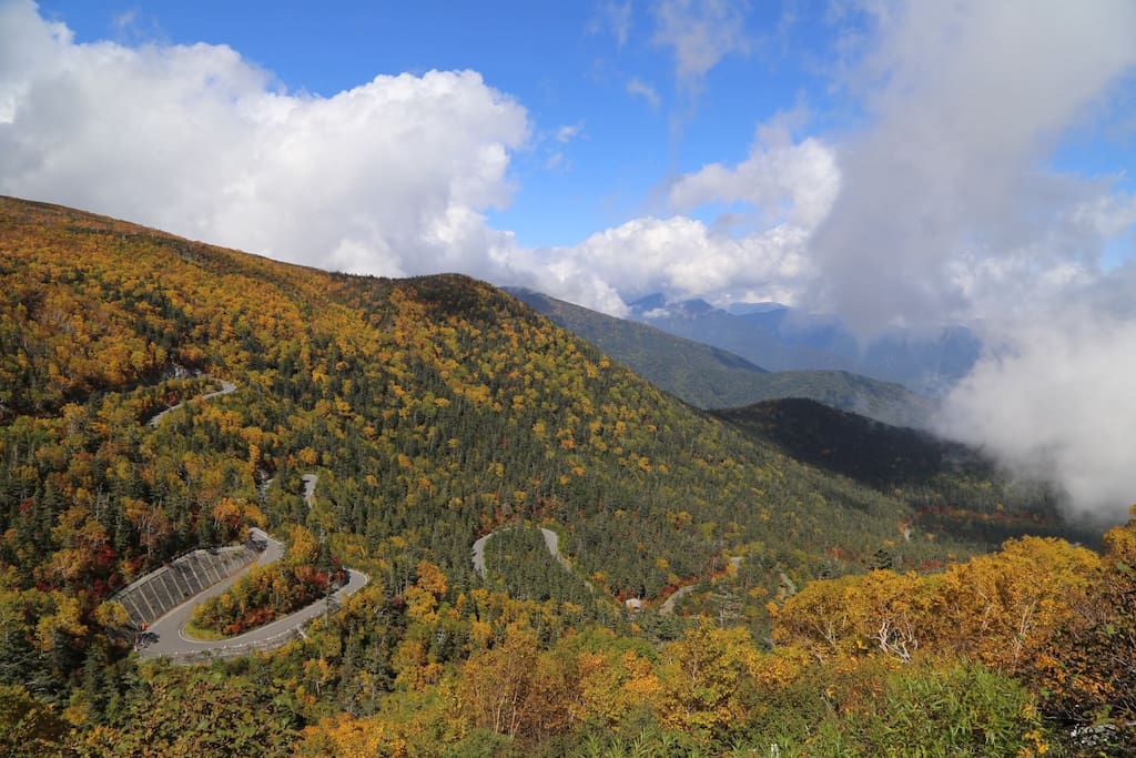 Mt Norikura Autumn foliage from the end of September to mid of October.