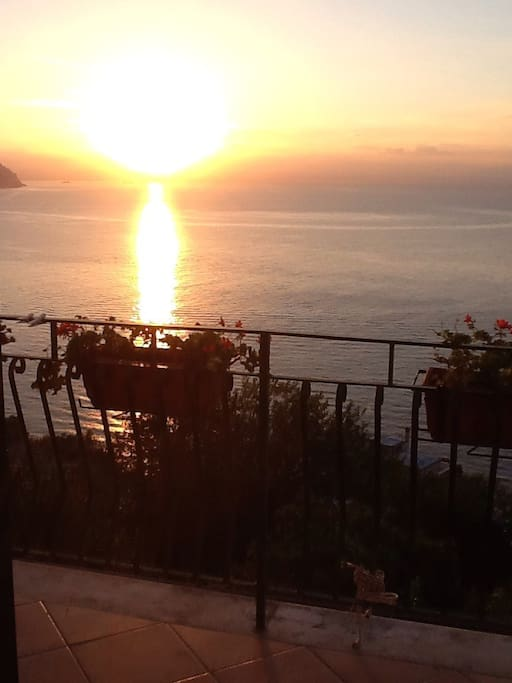From our beautiful terrace amazing sunrise and sunset romantic