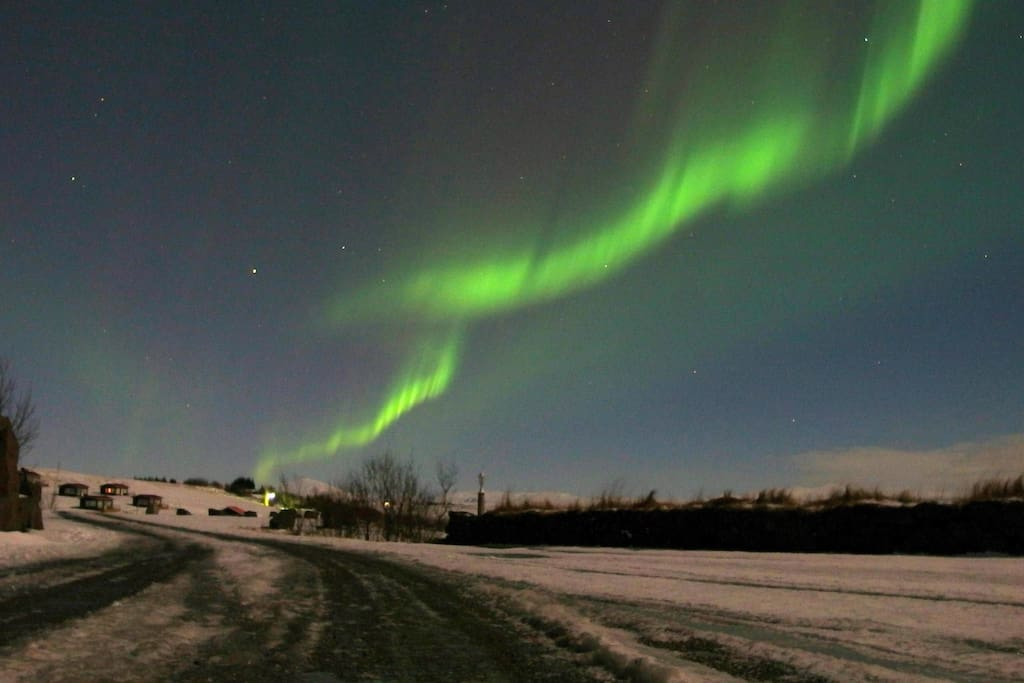 Hestheimar is the perfect place to enjoy the northern lights, far away from all light pollution