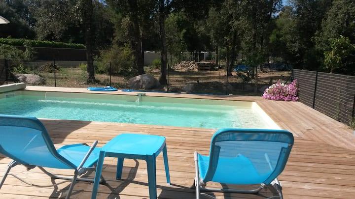Mini villa 3* O.T. 4 pers - piscine - plage à pied