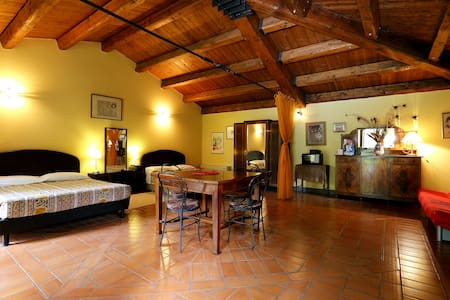 Red room in the country+wine+pool  - Faenza